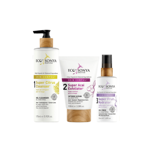 ECO BY SONYA SKIN COMPOST 3 STEP SKINCARE SYSTEM – SAVE $14+!