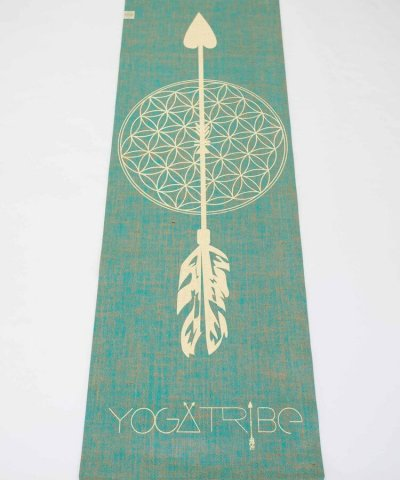 YOGATRIBE ORGANIC JUTE 100% ECO YOGA MAT – FLOWER OF LIFE