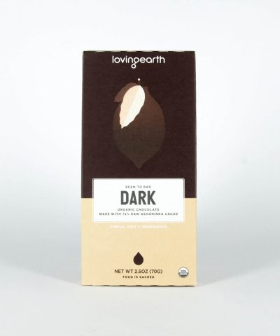 LOVING EARTH 72% DARK CHOCOLATE