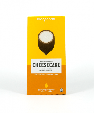 LOVING EARTH LEMON CHEESECAKE CHOCOLATE