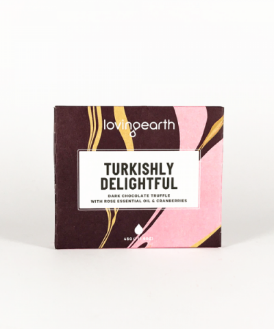 LOVING EARTH TURKISH DELIGHT CHOCOLATE