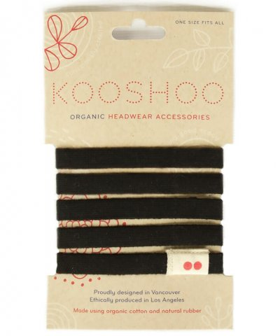 KOOSHOO ORGANIC BIODEGRADABLE HAIR TIES – BLACK