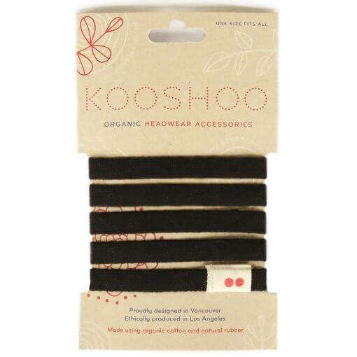 KOOSHOO ORGANIC BIODEGRADABLE HAIR TIES – BLACK
