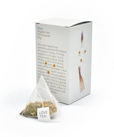LOVE TEA SLEEP TEA PYRAMIDS