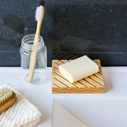 Little Bit Daily Wooden Soap Dish Pine Small 2