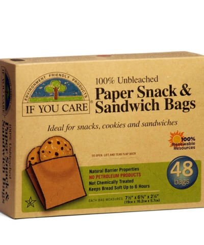 IF YOU CARE PAPER SANDWICH BAGS – 48 PACK