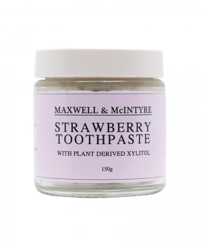 MAXWELL & MCINTYRE COCONUT OIL TOOTHPASTE – STRAWBERRY