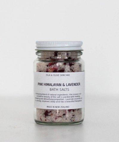 ISLA & OLIVE PINK HIMALAYAN & LAVENDER BATH SALTS