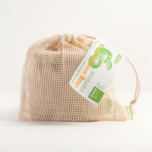 RETHINK REUSABLE PRODUCE BAGS – MULTI PACK OF 3