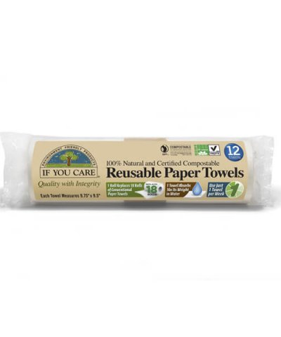IF YOU CARE REUSABLE & COMPOSTABLE PAPER TOWELS
