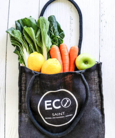 ECO SAINT REUSABLE SHOPPING TOTE BAG