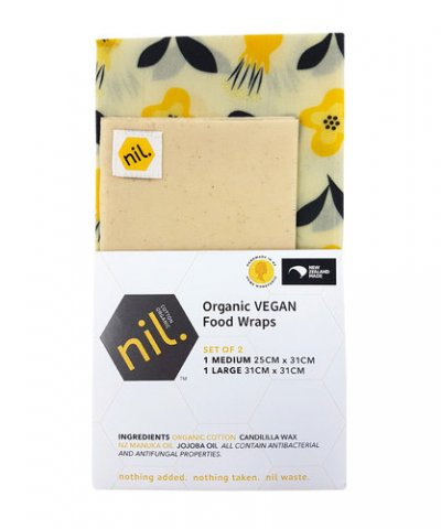 Nil Vegan Food Wrap Kowhai Flower