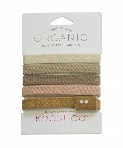 KOOSHOO ORGANIC BIODEGRADABLE HAIR TIES – BLONDE