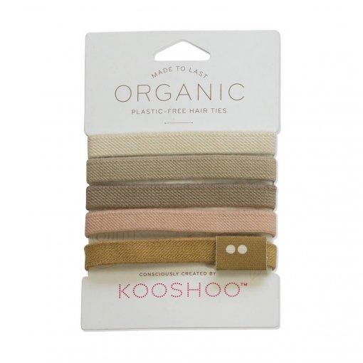 KOOSHOO ORGANIC BIODEGRADABLE HAIR TIES – BLONDE