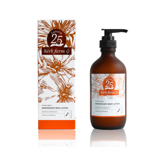 THE HERB FARM LIMITED EDITION ANNIVERSARY BODY LOTION – JASMINE & SANDALWOOD