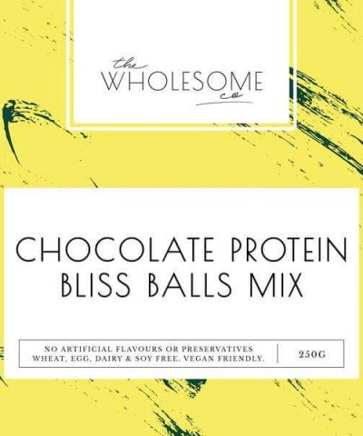 THE WHOLESOME CO BAKING KIT – CHOCOLATE PROTEIN BLISS BALLS