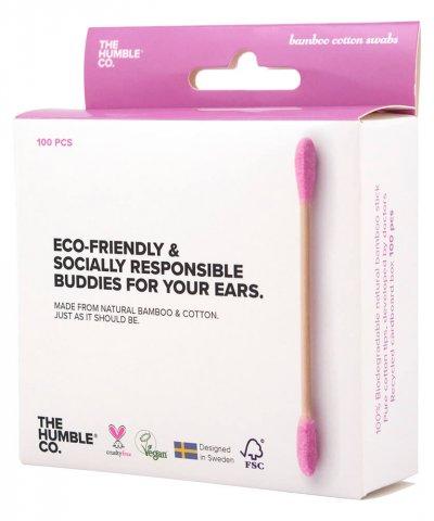 THE HUMBLE CO. BIODEGRADABLE COTTON BUDS – PURPLE