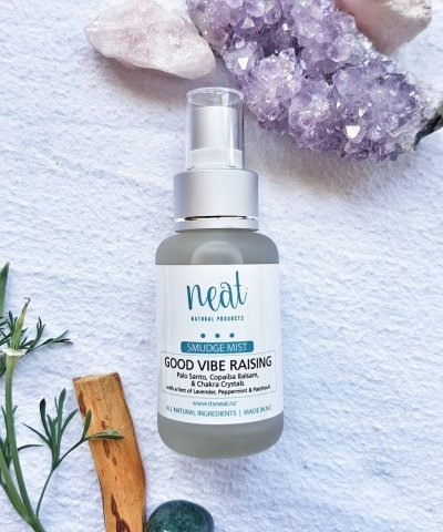 NEAT PERFUME – GOOD VIBE RAISING PALO SANTO SMUDGE SPRAY