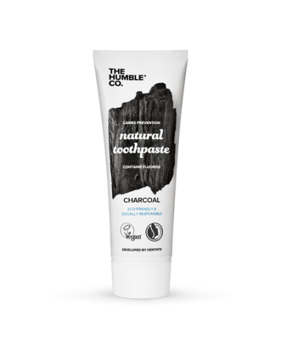 THE HUMBLE CO. VEGAN TOOTHPASTE *WITH SODIUM FLUORIDE* – CHARCOAL