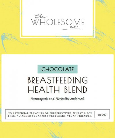 THE WHOLESOME CO – CHOCOLATE BREASTFEEDING HEALTH BLEND