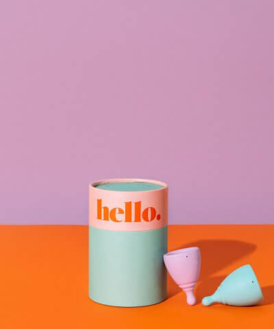 The Hello Cup - Lilac & Blue Teen Double Box