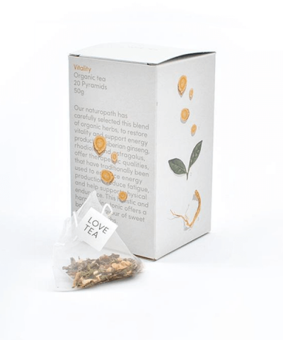 LOVE TEA – VITALITY TEA PYRAMIDS