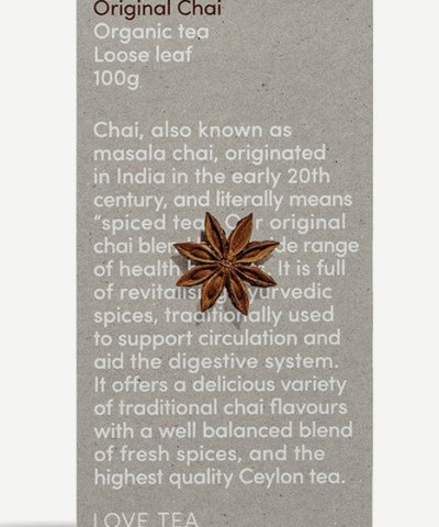 LOVE TEA ORIGINAL CHAI LOOSE LEAF TEA