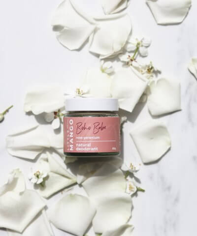 LITTLE MANGO NATURAL DEODORANT – (ROSE + GERANIUM) BOHO BABE