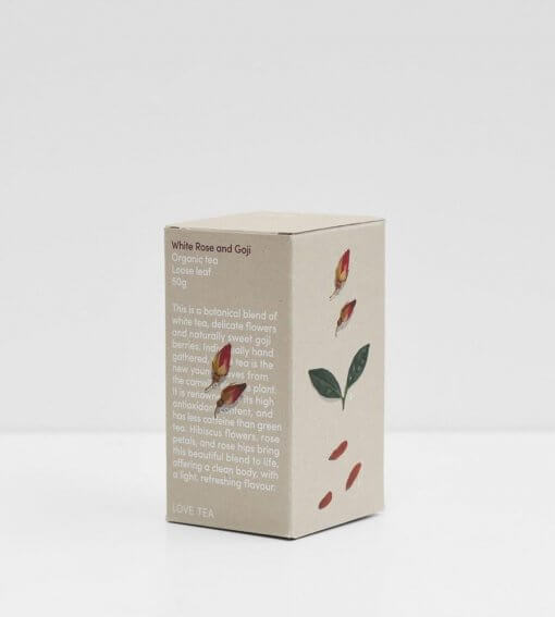 LOVE TEA WHITE ROSE AND GOJI LOOSE LEAF TEA