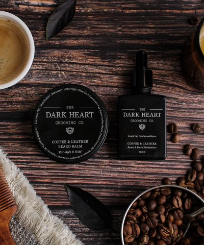 THE DARK HEART BEARD CO. – COFFEE & LEATHER BEARD & FACIAL MOISTURISER