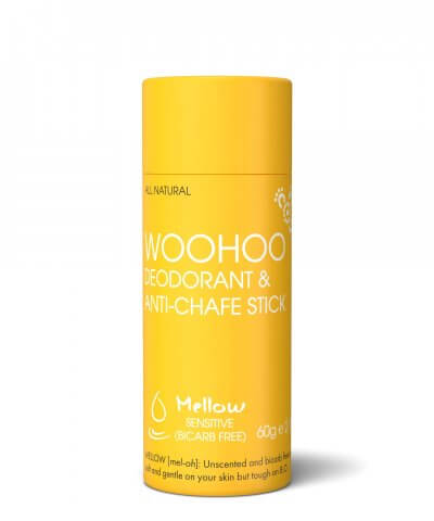 Woohoo Mellow Anti Chafe and Deodorant Waste Free Stick
