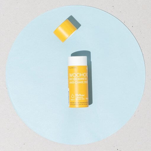 Woohoo Mellow Anti Chafe and Deodorant Waste Free Stick