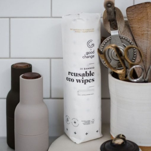 GOOD CHANGE – BAMBOO REUSABLE ECO WIPES – 20 SHEET ROLL