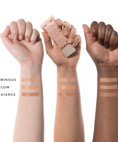 100% Pure BB Cream swatch on skin