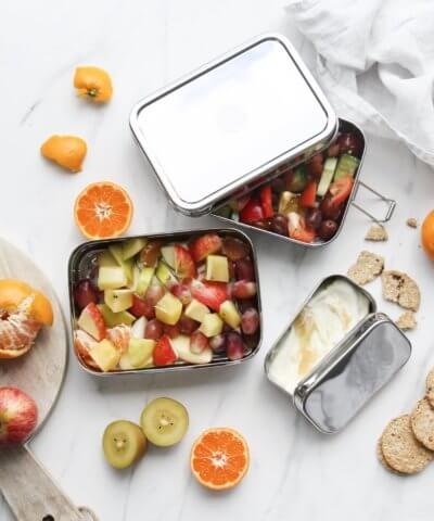 EVER ECO XL STACKABLE STAINLESS STEEL BENTO BOX 2 TIER + MINI CONTAINER