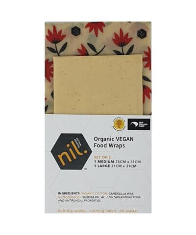 Nil Organic Vegan Reusable Food Wraps - Pohutakawa