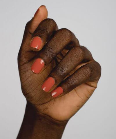 Sienna nail polish courage warm terracotta