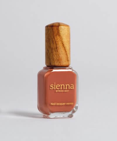 Sienna nail polish courage warm terracotta