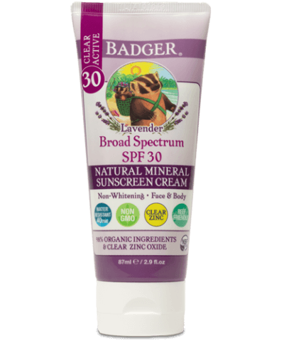 Badger Clear Lavender Sunscreen Cream SPF 30