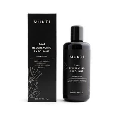 Mukti Organics 2 in 1 resurfacing exfoliant