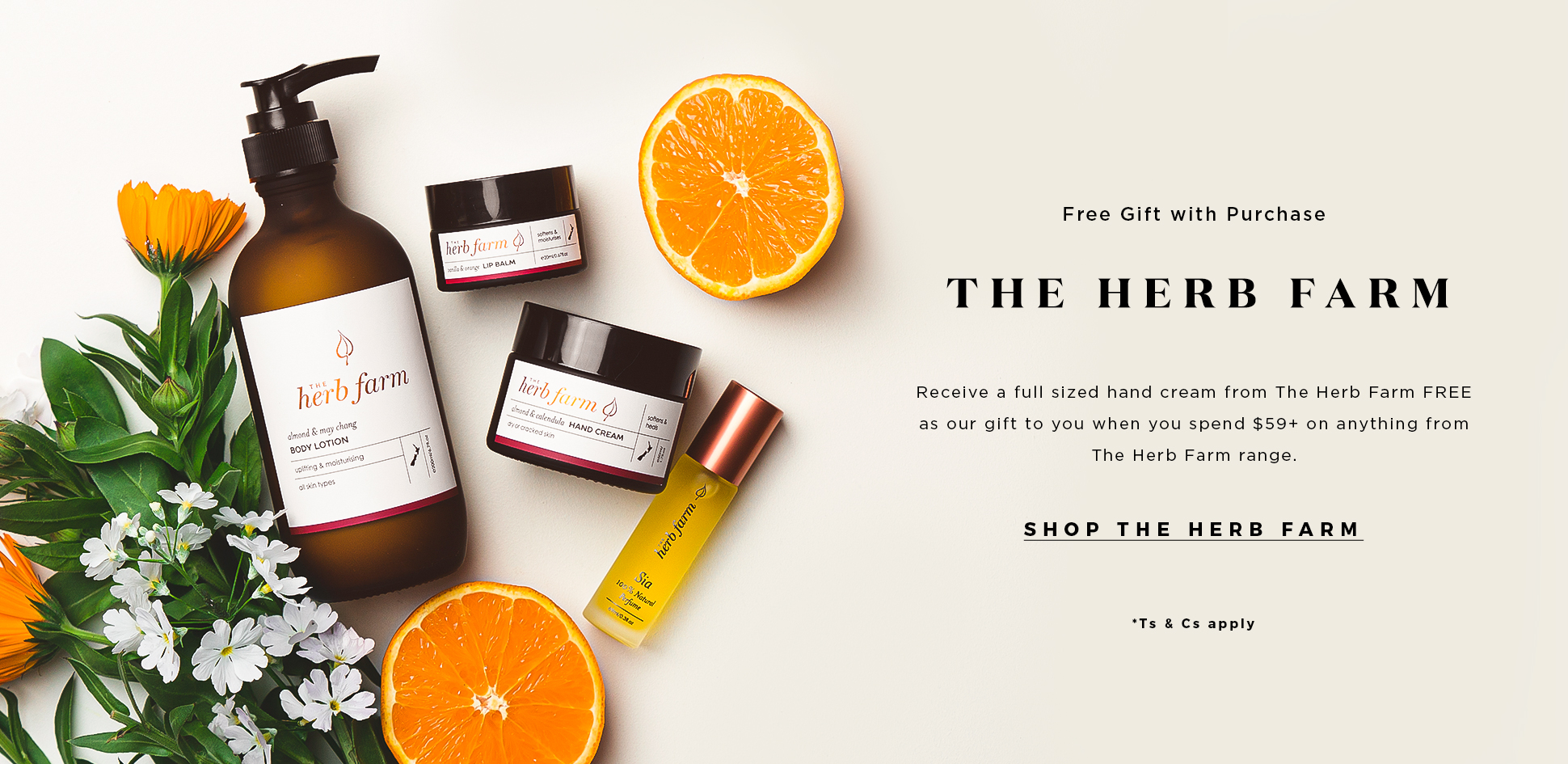 The Herb Farm Hand Cream Gift With Purchase