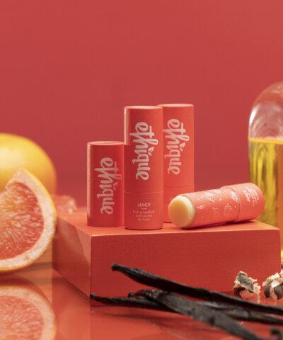 Ethique Juicy - Pink Grapefruit & Vanilla Lip Balm