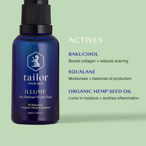 Tailor Skincare - Illume Serum Ingredients