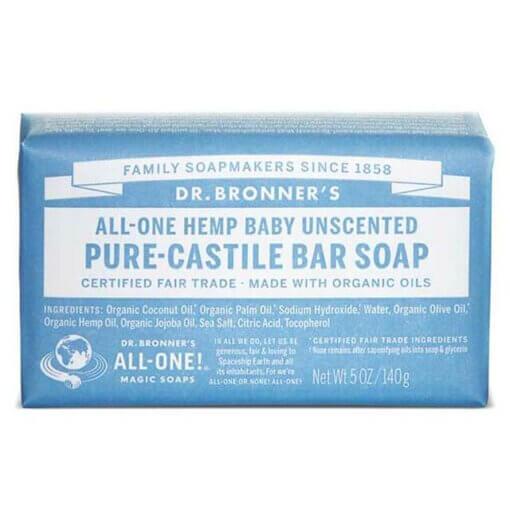 Dr Bronner's Baby Sensitive Unscented Soap Bar