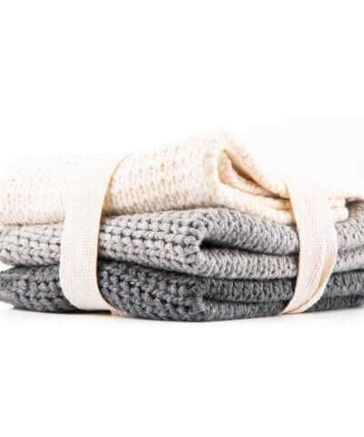 Caliwoods Organic Cotton Knitted Cloths - 3 Pack
