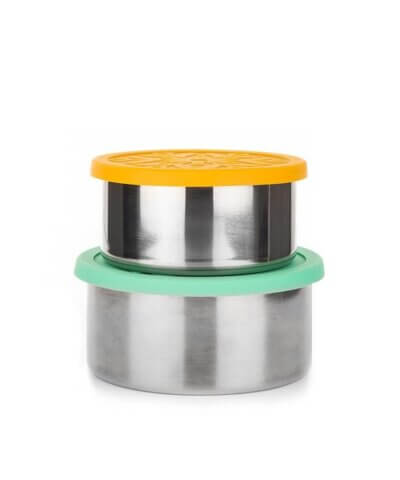 Caliwoods Stainless Steel Leak-proof Containers - Pack of 2 (Small & Large)